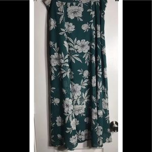 ❌Sold Ann Taylor Loft Teal Floral Long Shirt Sz 12